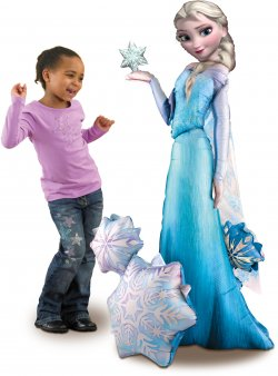 Balon urias folie metalizata Air-Walker Frozen ELSA 144x88cm